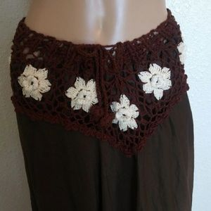 Gypsy Rose Floral Crotchet Maxi Skirt
